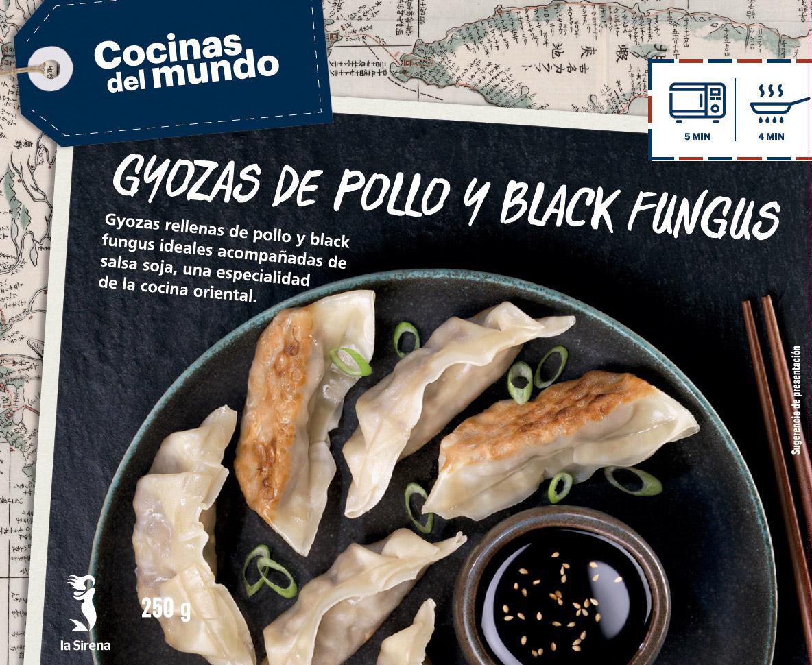 Gyozas de pollo y black fungus b. 250g