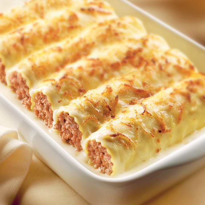 Canelones Carne Bech. Bja 12uds 1000g